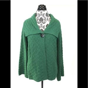 JM Collection Green Cardigan Sweater size large